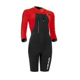 Head Swimrun Rough Traje Triatlón Corto Mujer, black-red